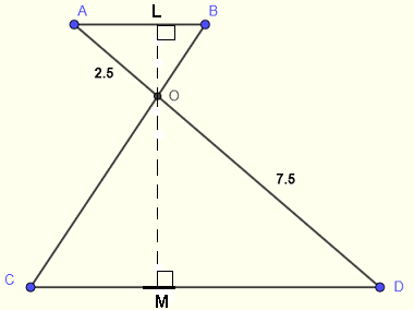 intercept theorem area of a triangle problem 4 solution