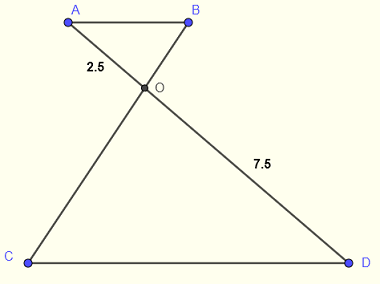 intercept theorem area of a triangle problem 4