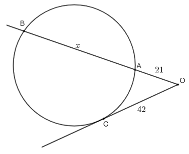 intersecting secant tangent theorem question 1