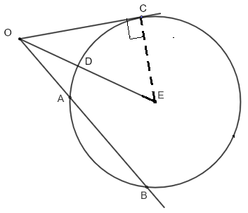 intersecting secant tangent theorem solution to question 3