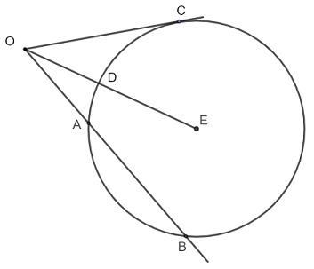 intersecting secant tangent theorem question 3