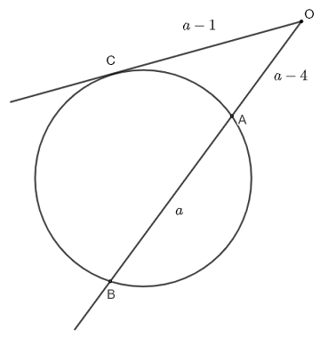 intersecting secant tangent theorem question 2