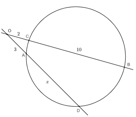 intersecting secant theorem question 1