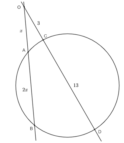 intersecting secant theorem question 2