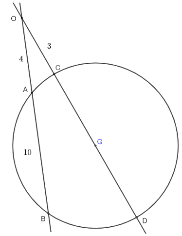 intersecting secant theorem question 3