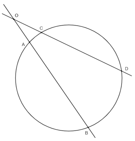 intersecting secant and circle theorem