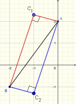 right triangle solution to problem 3 using Pythagorean theorem