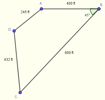 area of shape in problem 8
