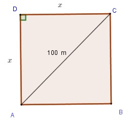 square for problem 6 solved by the Pythagorean theorem
