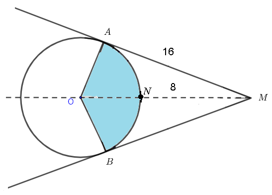 two intersecting tangents to a circle question 1