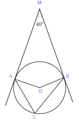 two intersecting tangents to a circle question 3