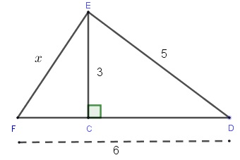 two right triangles problem 7 solved by the Pythagorean theorem