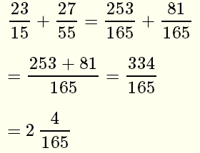 how to solve example with fractions